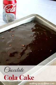 A Chocolate cake made with coke!! This the BEST chocolate cake you will make or eat.