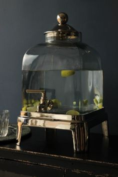 Thick Glass Drinks Dispenser  Stand