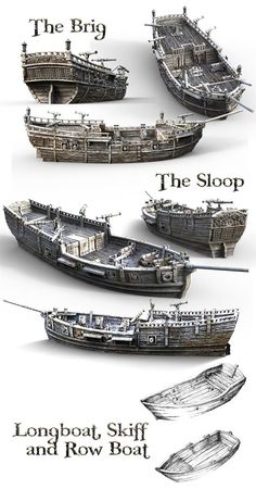 Printable Scenery's latest printable RPG and wargaming models take you to sea Model Sailing Ships, Old Sailing Ships, Model Ships, Model Ship Building, Boat Building, Ship Map, Bateau Pirate, Sea Of Thieves, Pirate Art