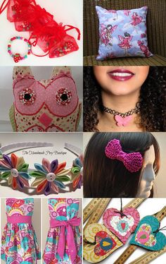 Cute and Girly by Carmel Rimmer on Etsy--Pinned with TreasuryPin.com Gifts For Girls, Crochet Necklace, Girly, Cute, Etsy, Women's, Crochet Collar, Girly Girl, Kawaii