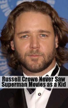 Russell Crowe talked with Kelly Ripa about how he has never seen a Superman movie.