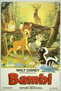 Vintage Classic Movie Poster Print Walt Disney's BAMBI