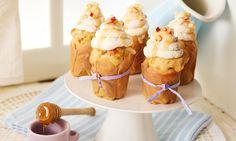 Bratapfel-Cupcakes - Verführerische Apfel-Cupcakes mit luftigem Zimt-Topping.