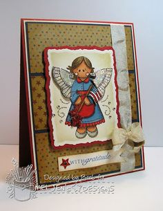 The Buzz: card featuring American Angel, a digital stamp from #MelJen's Designs