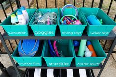 Pool Organizer Summer in Arizona can only mean one thing, pool time! With temperatures reaching degrees daily, we have spent hours and hours by the pool. We realized that pool activities r… Swimming Pool Signs, Swimming Pools Backyard, Pool Organization, Organizing Hacks, Pool Activities, Pool Hacks, Diy Pool, Pool Fun, Pool Floats