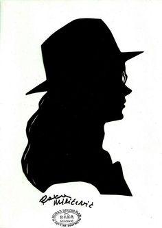 Michael Jackson Silhouette Paper cut art Black and White  Raka Milićević
