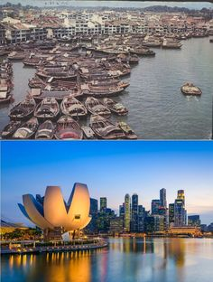 Then: Traditional architecture ruled in Singapore in the 1960s. Now: Singapore's economic success has spurred an almost-continuous building boom since the 1980s.