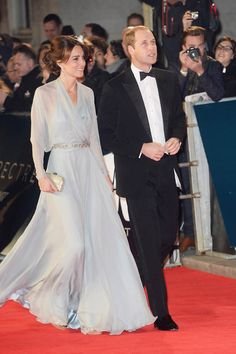 Prince William, Prince Harry, and Catherine at the Bond Spectre premiere