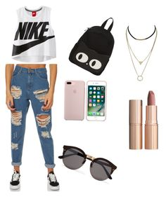 """""""Untitled #5"""" by andreeaberecz on Polyvore featuring Afends, NIKE, Illesteva and Charlotte Tilbury"""