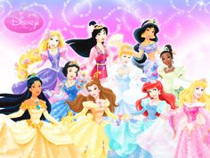 Little girls love Disney Princesses because they are beautiful and have big dresses!