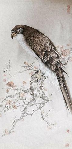 Chinese Art, Vintage Art, Illustration Art, Birds, Drawings, Moon, Beautiful, Random, Animales