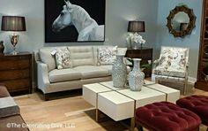 sofa table printed chair