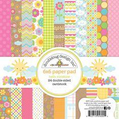 Doodlebug Design - Hello Sunshine Collection - 6 x 6 Paper Pad