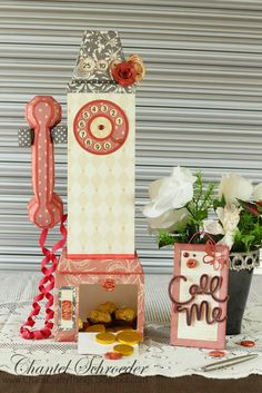 Chan's Crafty Things: Retro Payphone - SVGCuts Guest Design Team Project: Here's a cute Payphone box and gift card holder I created on my #SilhoutetteCameo using a range of files from #SVGCuts.