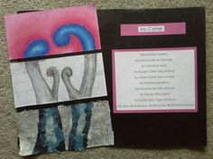 Mihi and koru project. First develop mihi and publish on computer. Draw Koru, each steam indicates family larger ones parents smaller ones yourself and siblings. Fold and cut in thirds, pastels on top, warm and cold colours. Mid section shading with pencil. Bottom section collage with newspaper and newspaper the same colour as the inside of the koru in the top section. Am not responsible for this idea, borrowed from wonderful teachers at Tamatea Intermediate , thank you Mrs McPhee you…