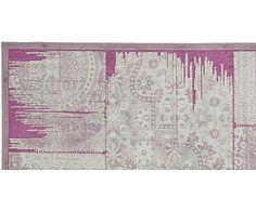 Alfombra de viscosa Kingstown, lila y gris - 160x228 cm