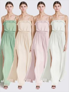 pastel chiffon bridesmaid dresses from For Her And For Him