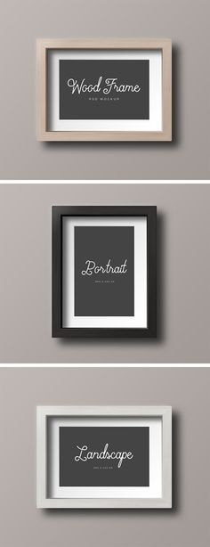 Check out these simple wooden frame mock-ups and use them freely to showcase your artwork, photos and more...