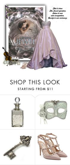 """""""The Jewel"""" by greerflower ❤ liked on Polyvore featuring Reem Acra, Shabby Chic, Language Of Flowers, Avalaya, TIARA and Valentino"""