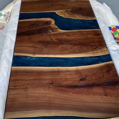 Live Edge Resin Doors Stunning River Doors Custom Made for | Etsy Wood Headboard, Headboards, Wood Wall Design, Large Wood Wall Art, Modern Rustic Decor, Live Edge Wood, Wood Resin, Wood Slab, Custom Wood