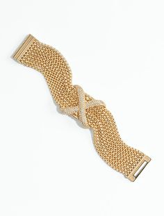 Talbots - Pavé & Chain-Link Bracelet | Jewelry |