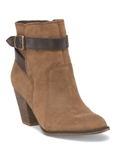 Franco Sarto Ankle Buckle Bootie in Tan