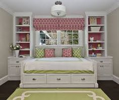 rug, apple green rug, kids room daybed, girls daybed, built in daybed Home Bedroom, Girls Bedroom, Bedroom Decor, Bedroom Ideas, Girls Daybed, Bed Ideas, Master Bedroom, Master Suite, Decor Ideas