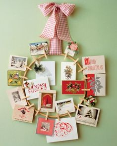 Pinup Wreath. Christmas Card DisplayChristmas ...