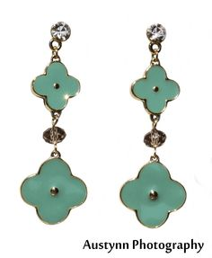 de679f969 Soap Opera Jewelry has Kate Howard's Gold and Turquoise Clover Earrings  from General Hospital!