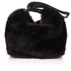 Victoria Beckham Faux Fur Tissue Bag ($1,490) ❤ liked on Polyvore featuring bags, handbags, faux fur bag, victoria beckham bags, dark brown handbags, zip purse and faux fur handbags