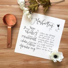 Natalie Kay calligraphy | @offthebeatenpress