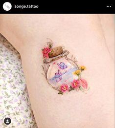 Mini Tattoos, Cute Tattoos, Body Art Tattoos, Small Tattoos, Tatoos, Amazing Tattoos, Tattoo Spirit, Tattoo You, Korean Tattoos