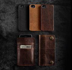 Italian Leather Hard Shell Case For Iphone® 5/5s/6/6 Plus - Cocoa