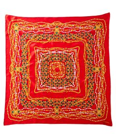 CHANEL Chanel Red Silk Scarf'. #chanel #scarves & wraps