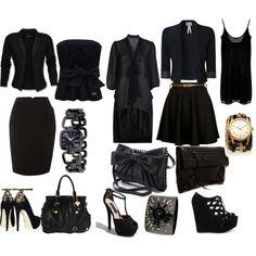 All Black Fashion :)  The closet of a hairsylist! haha
