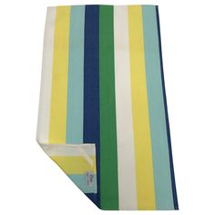 Striped tea towels complete with hanging corner tags. Childrens Aprons, Duck Egg Blue, Lemon Yellow, Striped Fabrics, Chair Covers, Tea Towels, Blue Stripes, Blue And White, Chair Sashes