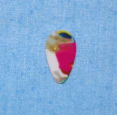 Vintage Mosaic small teardrop guitar pick (pick a) #GuitarPick