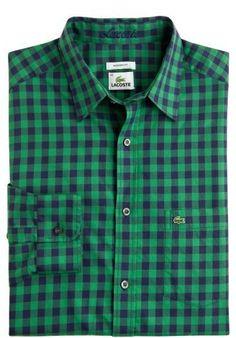 Long Sleeve Brushed Cotton Large Gingham Shirt - Navy Blue Multi $65.99