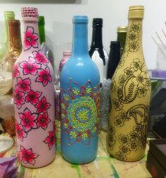 Recycled Wine Bottles  AcrylicOnWineBottles
