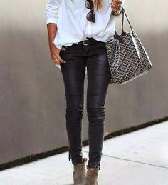 pantalon engomado negro