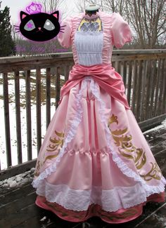 Princess Peach cosplay costume by Ridikitty on Etsy