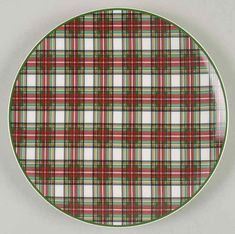 Entertain, gather, and turn your house into a home that's undeniably yours with the Happy Holidays Salad Plate by Nikko. Christmas Jars, Christmas Items, Christmas Decorations, Xmas, Tartan Crafts, Christmas Dinnerware, Crystal Glassware, Tree Shapes, Nikko