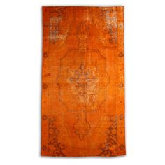 Orange Over Dyed Rug 87 x 47 inch ( 223  x120  cm) reprocessed from Vintage Turkish Carpet. $649.90, via Etsy. Rugs On Carpet, Carpets, Orange, House, Etsy, Vintage, Home Decor, Farmhouse Rugs, Homemade Home Decor