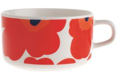 Discover the Marimekko Unikko White/Red Tea Cup at Amara Marimekko, Tea Cup Saucer, Tea Cups, Vintage Dishes, Decoration Table, Scandinavian Design, Tea Party, Dinnerware, Ceramics