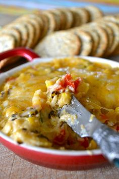 39. Roasted Corn and Cheese Dip #healthy #recipes #super #bowl http://greatist.com/health/super-bowl-recipes-snacks