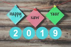 Happy NEw Year 2019 Colorful Tags