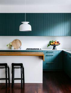 2016 Australian Interior Design Awards shortlist announced - The Interiors Addict - Home Decor Kitchen Cabinet Doors, Kitchen Cabinet Door Styles, Interior, Kitchen Trends, Home Decor, House Interior, Teal Kitchen, Home Interior Design, Interior Design Awards