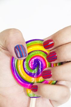 candy themed nail art