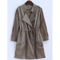 SHARE & Get it FREE | Plus Size Convertible Collar Epaulet Trench CoatFor Fashion Lovers only:80,000+ Items·FREE SHIPPING Join Dresslily: Get YOUR $50 NOW!
