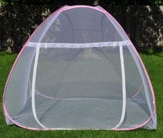 This high quality and sturdy mosquito netting tent pops up to its full shape once opened, and takes 5 seconds to fold back into its carrying case as shown below. It is compact, lightweight and easy to carry. The bottom is open so that one or two cots can be put inside. Great for camping. Also functions as a screen house for insect and bug research or insect shield. In addition, it works great for indoor and outdoor kids play house so that parents...
